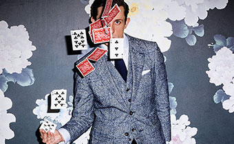 Magician throwing Cards